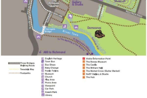 Barnard Castle Map