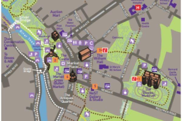 Map Of Barnard Castle