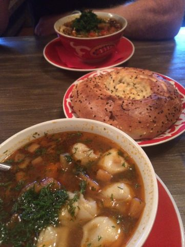 Soup and Pelmeni