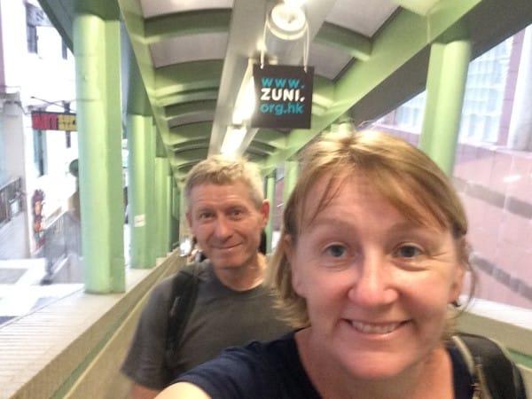 Heading up the Mid Level Escalators