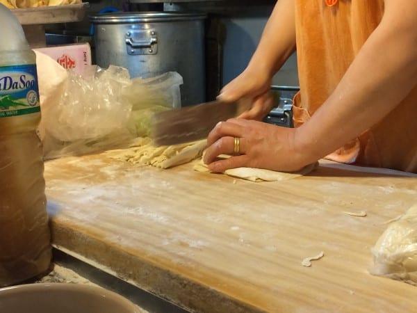 Korean Food - handcut noodles
