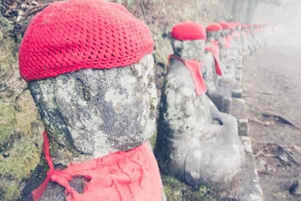 Jizo statues in Nikko