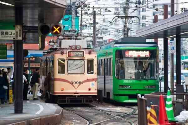 Streetcars in Hiroshima