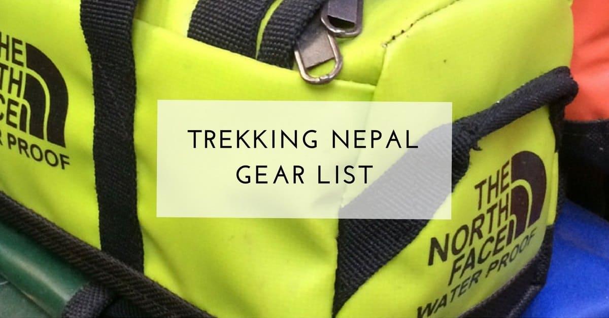 1f109122a Nepal Trek Gear List - Everest Base Camp Trek Packing List ...