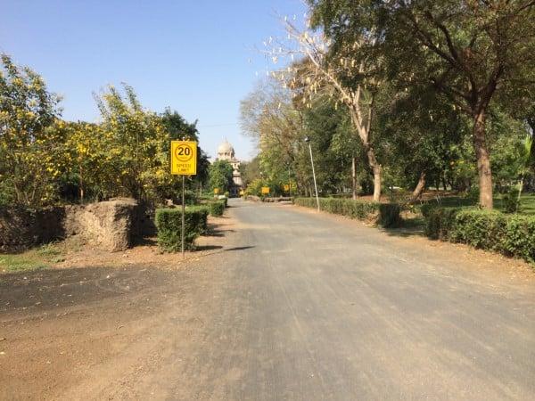Entrance to Laxmi Vilas Vadodara