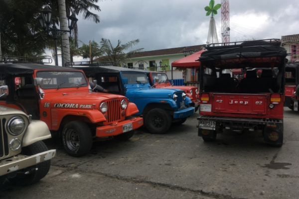 The Willy Jeep Stand in Salento