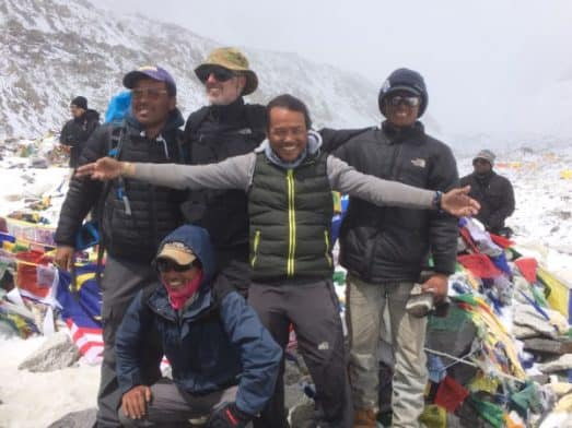 Our sherpa team at Everest Base Camp
