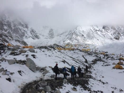 Trekkers Base Camp to Actual Everest Base Camp