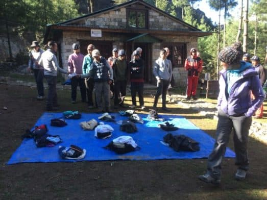 Monjo Camp Giving away our gear