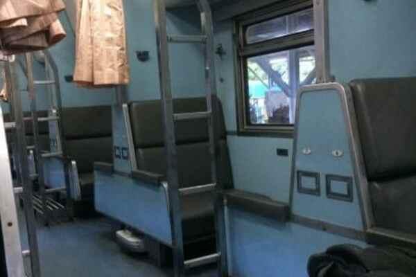 Thai train second class sleeper
