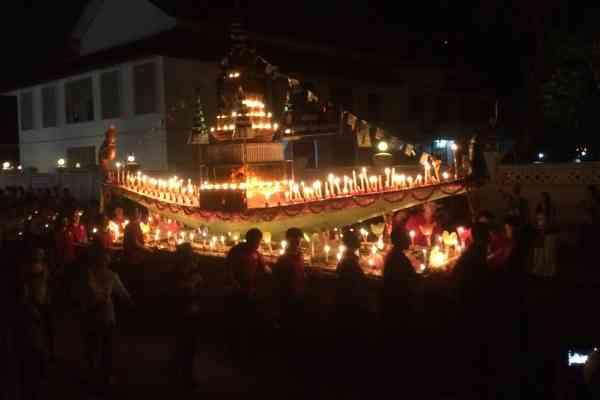 Fireboat parade Luang Prabang