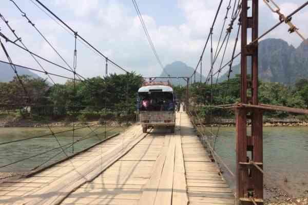 toll bridge vang vieng