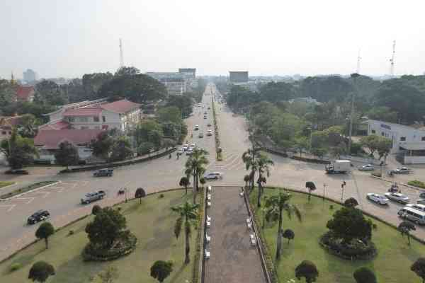 view from Patuxai Vientiane