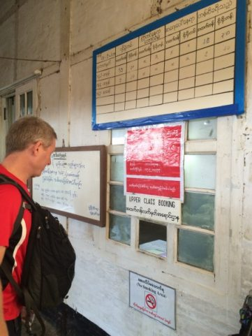 The Slow Train to Thazi-upper class ticket counter