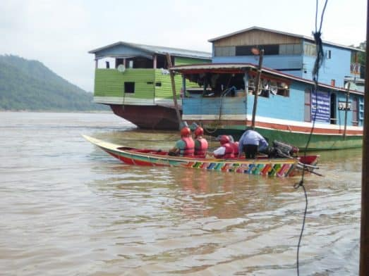 Fast Boat on the Mekong River