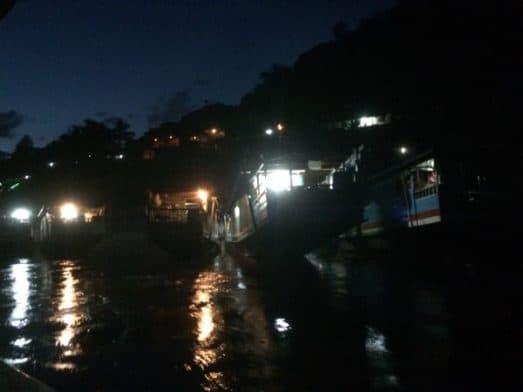 Pakbeng Dock at Night