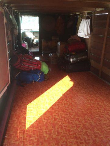 Slow Boat Laos Bag Storage