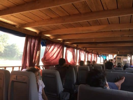 Slow Boat Laos Curtains and Seats