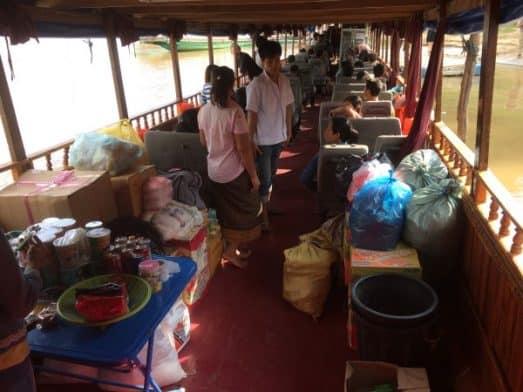 Slow Boat Laos Seats