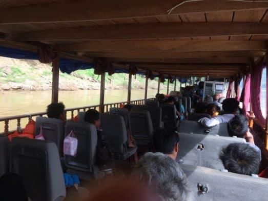 Slow Boat Laos Sitting Area