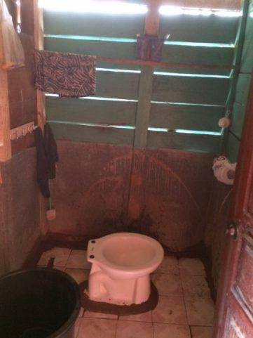 Slow Boat Laos Toilet on Board