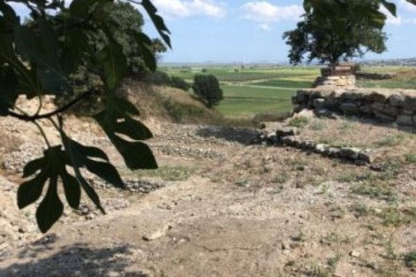 Ancient Troy and the countryside Turkey