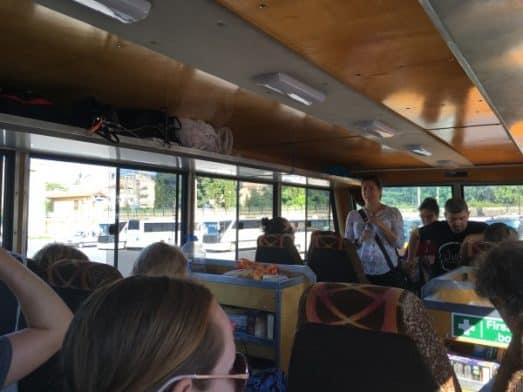 Madventure inside the bus