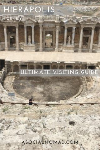 Visit the #Unesco world heritage site of Hierapolis in Turkey. Situated close to the famous pools of Pamukkale Check out the amazing ampitheatre, the tombs and the devils breath! #turkey Worldheritage #pamukkale #hierapolis