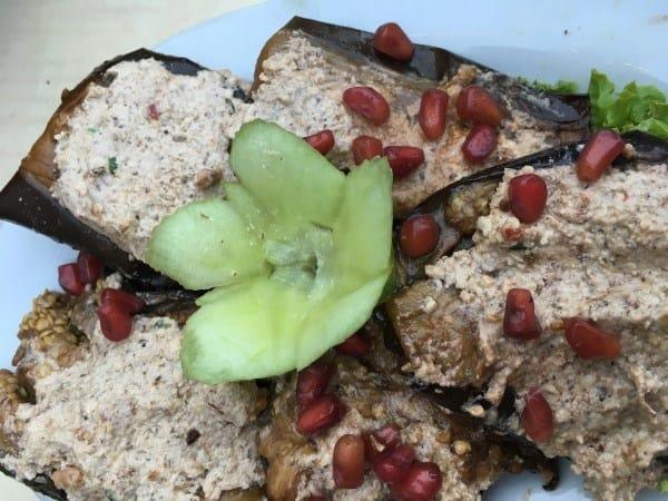 Badrijai Nigvzit - Eggplant with Walnut Paste
