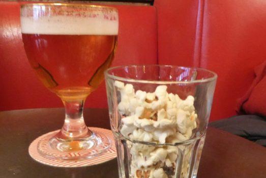 French beer snacks popcorn
