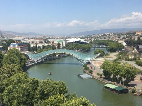 Tbilisi Views in Aerial CAble Car