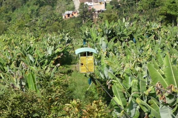 Garrucha cable car in Jardin