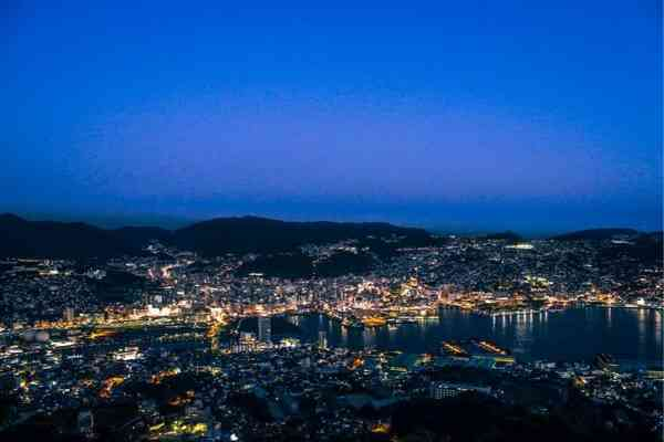 Nagasaki night views from Mount Inasa