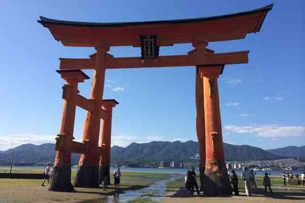 The Itsukushima Shrine Miyajima at Lowtide