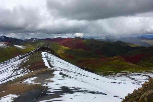 Final viewpoint rainbow mountain peru