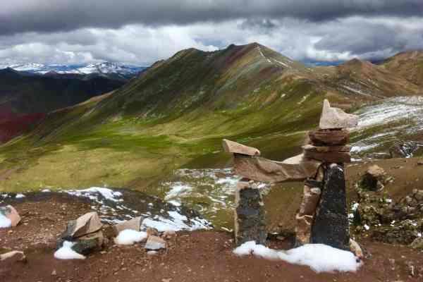 Palccoyoa Rainbow mountain viewpoint