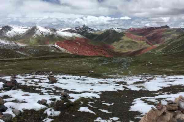 Rainbow mountain viewpoint peru