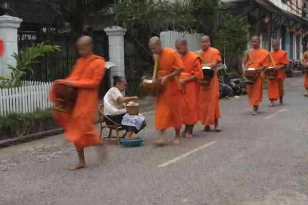 Tak Bat Alms Giving Ceremony Luang Prabang