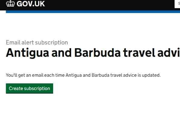 Travel Advice Antigua and Barbuda