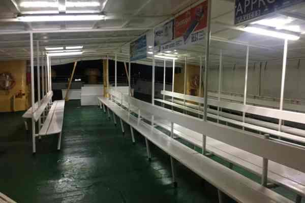 Top deck union island ferry