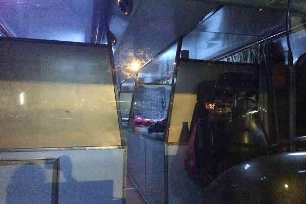 inside sleeper bus laos