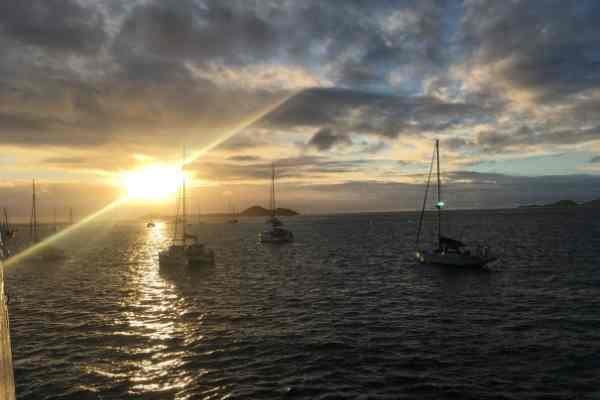 sunrise from union island