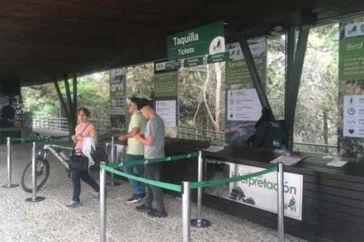 Parque Arvi ticket counter