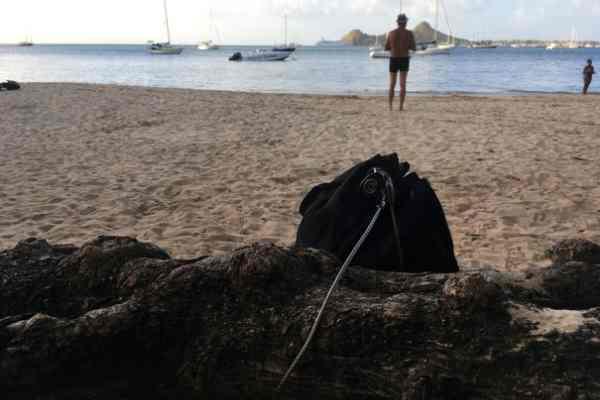 portable travel safe on beach